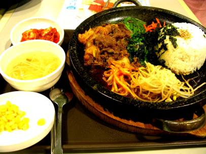 excited about eating korean food all the time.