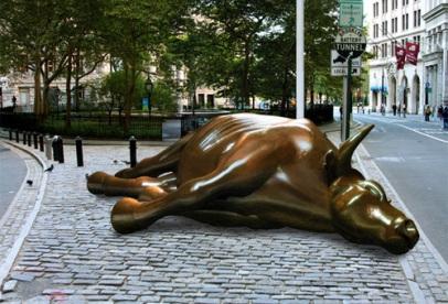 dead bull by Ji Lee