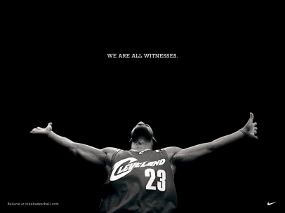 Lebron James via Nike